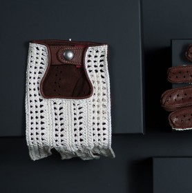 DRIVING GLOVE (BROWN-CROCHET) (HERRENFAHRT 헤른파트)